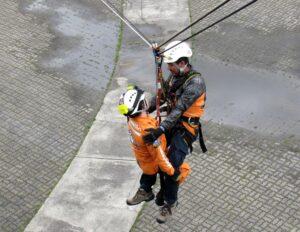 arnés de seguridad para rescate en alturas