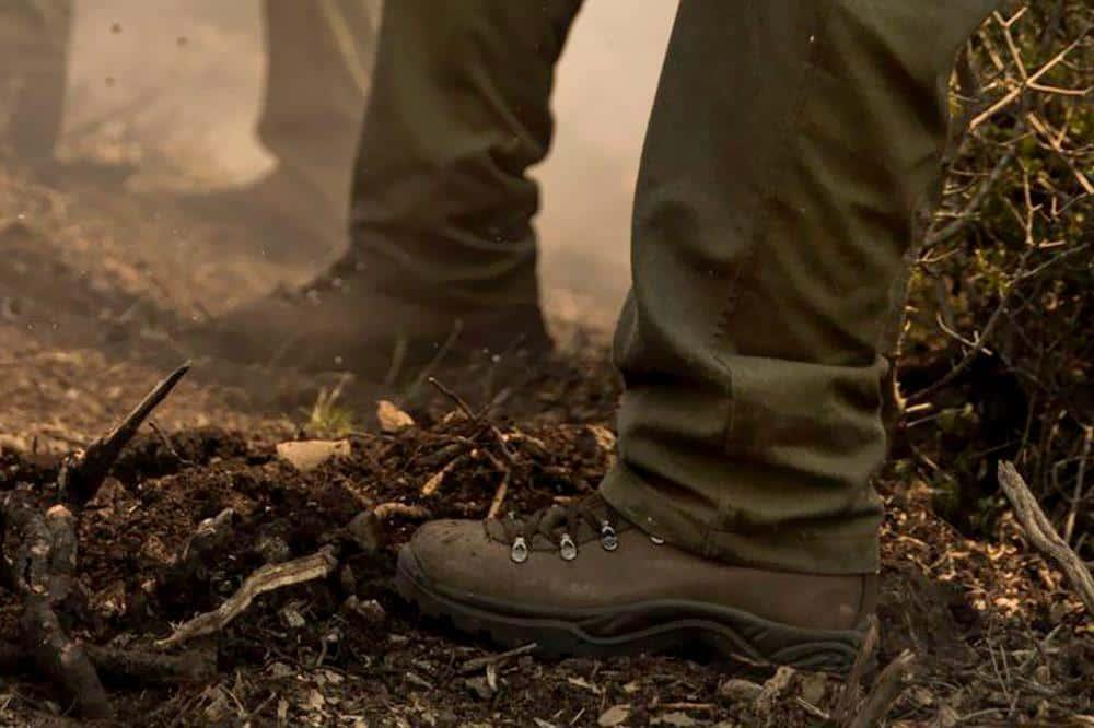 calzado de botas para bomberos